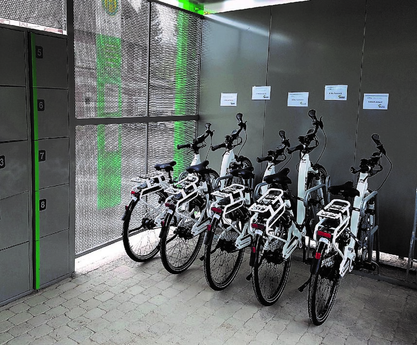 E-Bikes an der Mobilstation Altenbeken